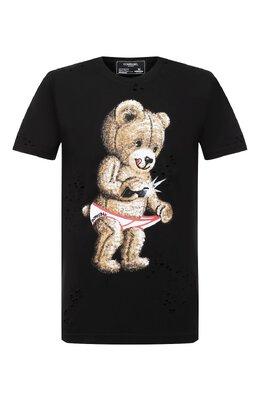 Хлопковая футболка Dom Rebel SNAP/T-SHIRT/H0LES