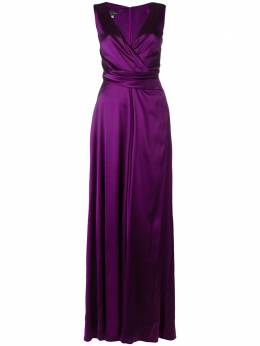 Talbot Runhof crêpe satin long dress POKARIO1RG20
