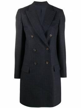 Brunello Cucinelli двубортное пальто-блейзер MA1609546PC001