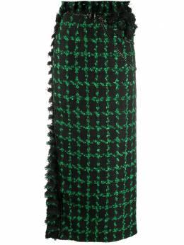 Loulou клетчатая юбка с бахромой SH2010100