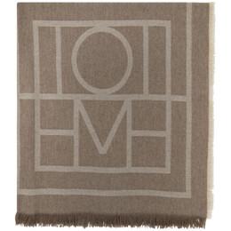 Toteme Brown Wool Como Scarf 193-854-802