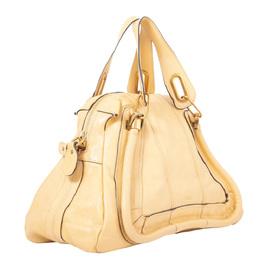 Chloe Brown Medium Paraty Leather Satchel Bag 298566