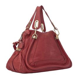 Chloe Red Medium Paraty Leather Satchel Bag 298567
