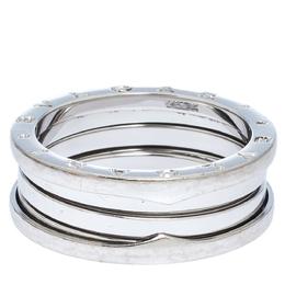 Bvlgari B.Zero1 18K White Gold 3-Band Ring Size 65 300013