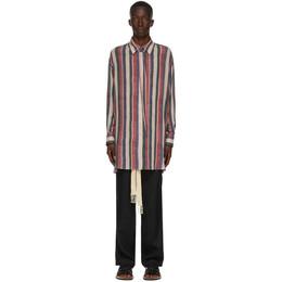 Loewe Multicolor Detachable Collar Stripe Shirt H2109710CG