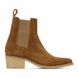 Amiri Brown Suede Pointy Toe Chelsea Boots F0F20424SU