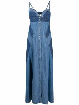 Diesel джинсовое платье макси с контрастными вставками A003970LAYL