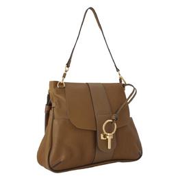 Chloe Brown Leather Large Lexa Shoulder Bag 298572