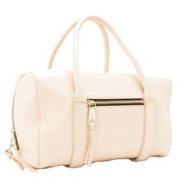 Chloe White Madeleine Leather Boston Bag 298547