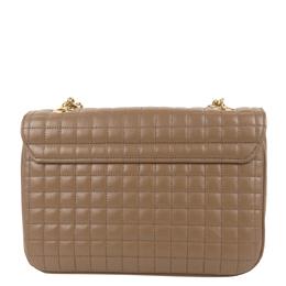 Celine Brown Leather Quilted Medium C Bag 298673