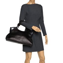Cartier Black Leather Medium Marcello de Cartier Bag 300205