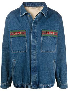Gucci джинсовая куртка с отделкой Web 611771XDBB9