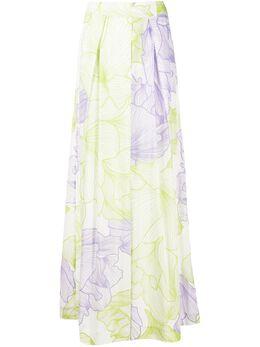 Malo брюки палаццо с цветочным принтом DRP023T3F17