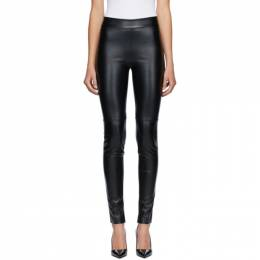 Wolford Black Faux-Leather Estella Leggings 19156