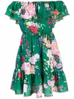 Marchesa Notte платье с цветочным принтом N41DCP2001