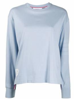 Thom Browne футболка из джерси с длинными рукавами и полосками 4-Bar FJS066A06769
