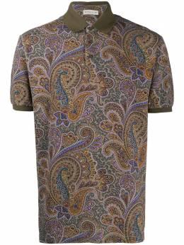 Etro рубашка поло с принтом пейсли 1Y8005578