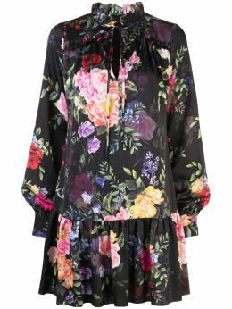Marchesa Notte платье мини с цветочным принтом N41DCP2002