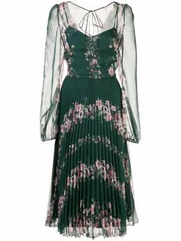 Marchesa Notte плиссированное платье миди N41DCP1975