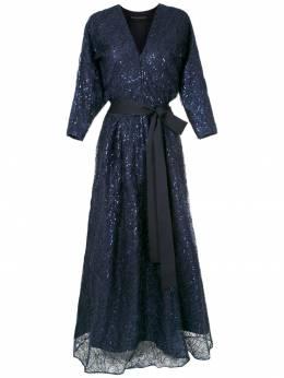 Gloria Coelho вечернее платье с вышивкой I19VF022