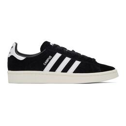 Adidas Originals Black Nubuck Campus Sneakers BZ0084