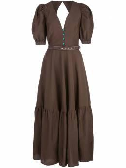 Nicholas ярусное платье с вырезом и поясом S20D189327