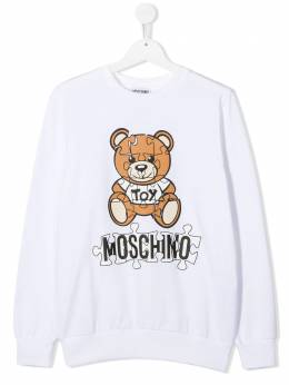 Moschino Kids толстовка Teddy Bear с логотипом HQF039LDA14
