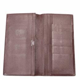 Hermes Brown Leather MC2 Wallet 298636