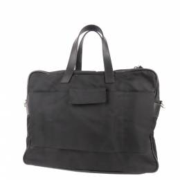 Prada Black Nylon Tessuto Business Bag 298729