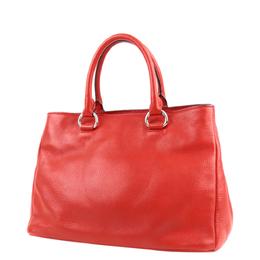 Prada Red Vitello Daino Leather Satchel Bag 298723