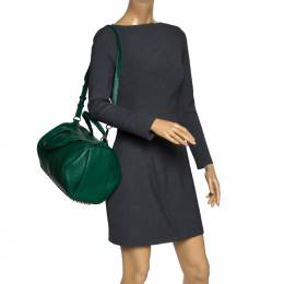 Alexander Wang Green Textured Leather Rocco Duffel Bag 300293