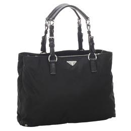 Prada Black Tessuto Nylon Tote Bag 298745