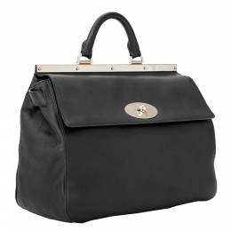 Mulberry Black Leather Small Suffolk Satchel Bag 298581
