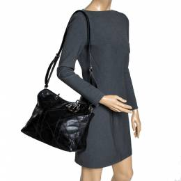 Dior Black Cannage Quilted Lambskin Leather Granville Tote Bag 300282