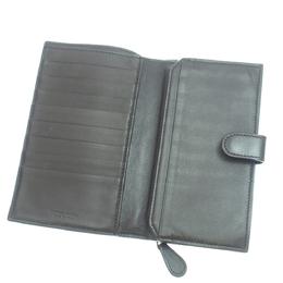 Bottega Veneta Back Intrecciato Leather Long Wallet 298769