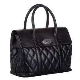 Mulberry Black Quilted Leather Small Bayswater Satchel Bag 298785