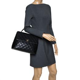 Chanel Black Caviar Leather Vintage Kelly Bag 301378