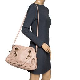 Chloe Beige Leather Medium Paraty Shoulder Bag 301141