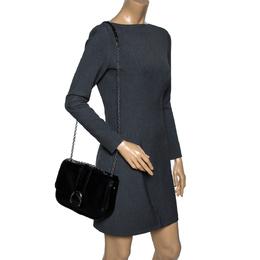 Longchamp Black Leather Amazone Shoulder Bag 301166