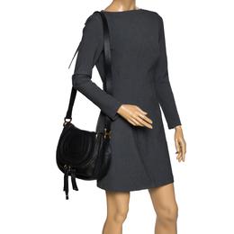 Chloe Black Leather Medium Marcie Crossbody Bag 301299