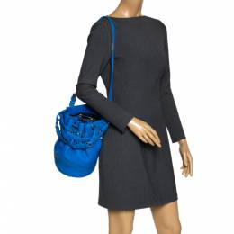 Alexander Wang Blue Leather Diego Bucket Bag 300356