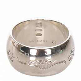 Bvlgari Save The Children Sterling Silver Ring Size 51 298625