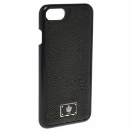 Dolce&Gabbana Black Leather iPhone 7 Cover 300507