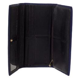 Carolina Herrera Purple Monogram Leather Continental Wallet 300504