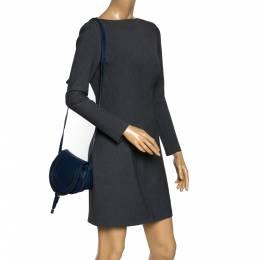 Chloe Blue Leather Mini Marcie Crossbody Bag 300300