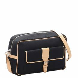Burberry Black Canvas Crossbody Bag 298988