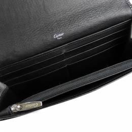 Cartier Black Leather Happy Birthday Wallet 298674