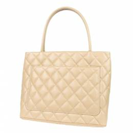 Chanel Brown Caviar Leather Medallion Tote Bag 298701