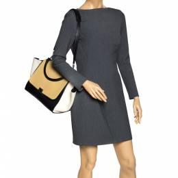 Celine Tri Color Nubuck and Leather Medium Trapeze Bag 301304