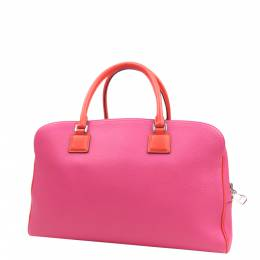 Loewe Pink/Red Leather Boston Bag 298712